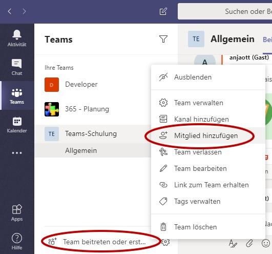 Einführung in Microsoft Teams