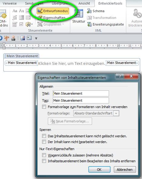 Rechnungserstellung mit Word und Excel